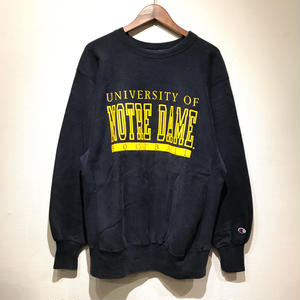 """90s Champion /  Reverse Weave Sweater """"NOTRE DAME"""" / NAVY XL"""
