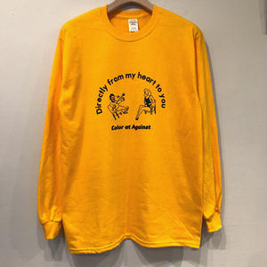 Color at Against × Aimi Odawara / Directly from my heart to you L/S TEE / Yerrow