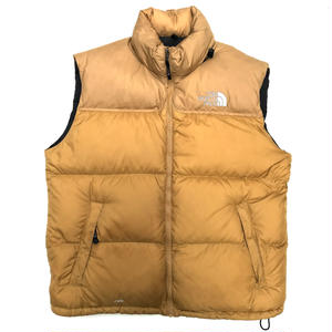 THE NORTH FACE / Nuptse Down Vest / Mustard / Used