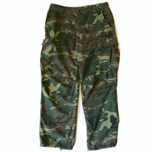 68s US ARMY / Rip-Stop Jungle Fatigue Pants / Leaf Camo / Vintage