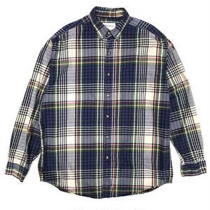 Eddie Bauer / L/S Check B.D. Shirt / Navy / Used