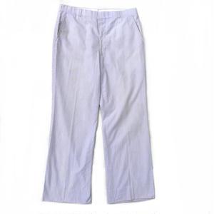 Seersucker Pants / Grey / Light Purple