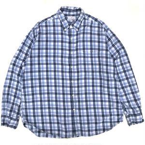 Old J.CREW / L/S B.D.Check Shirt / Blue Check / Used