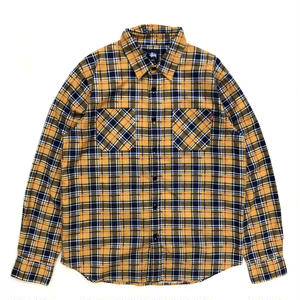 Dead Stock / Stussy / L/S Check Shirt / Yellow