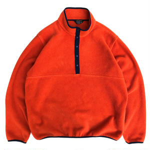 90s- L.L.Bean / Snap T Fleece Jacket / Orange / Used