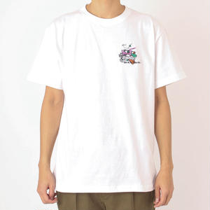 SON OF THE CHEESE/EMBROIDERY TEE/WHITE