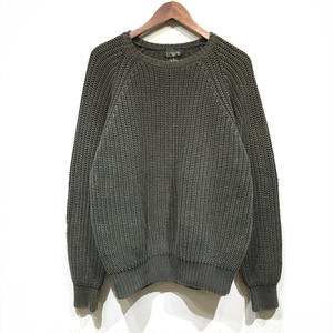 OLD J.CREW / Cotton Knit Sweater / Olive