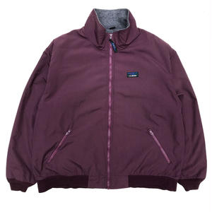 Made in USA / 90s L.L.Bean / Warm-Up Jacket / Purple / Used