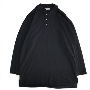 USED L/S Cotton Polo Shirts / Black