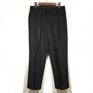 OLD SLACKS 3 TUCK SLACKS / Black