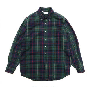 L.L.Bean / L/S B.D.Check Shirt /  Green  / Used