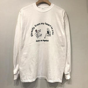 Color at Against × Aimi Odawara / Directly from my heart to you L/S TEE / White