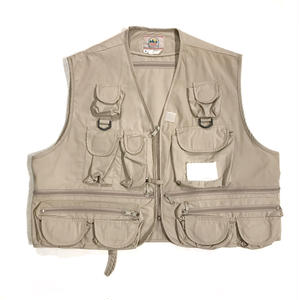 90s Fishing Vest / beige / Used