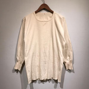 Dead Stock / OLD Swedish Army Thermal Sweater / Natural