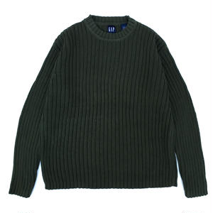 90s GAP / Cotton Knit / Khaki / Used