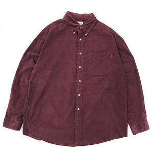 L.L.Bean / L/S Corduroy B.D.Check Shirt / Burgundy  / Used