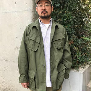 60s Deadstock US ARMY /  RIP STOP 4 Pocket Fatigue Jacket / Olive
