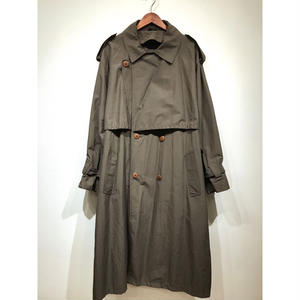 OLD / BIG Trench Over Coat / Dk Olive 44R