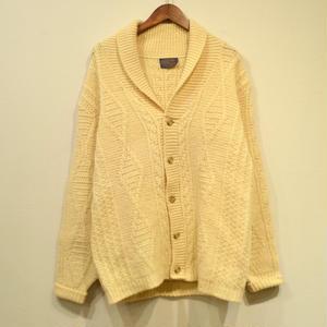 Old Pendleton / Shawl Collar Cowichan  Sweater / Off White