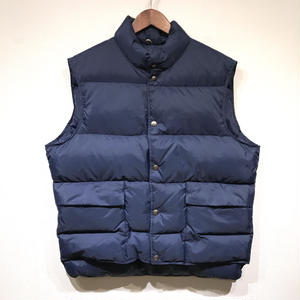 Old L.L.Bean / Nylon Goose Down Vest / Navy