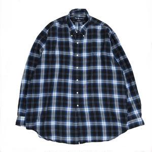 Polo Ralph Lauren / L/S Check Shirt /  Blue × White  / Used