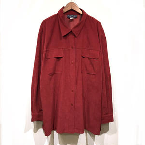 Used / Suede Flap Shirts / Burgundy