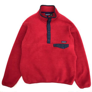 90s Patagonia / SnapT Fleece Jacket  / Red / Used