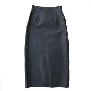 OLD Leather Skirt / Black