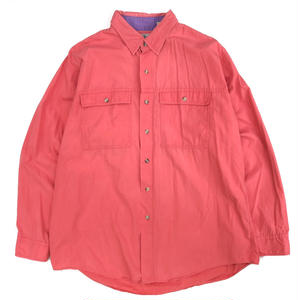 Made in USA / Old L.L.BEAN FIshing Shirt / PINK