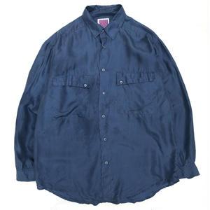 Used Silk Shirt / Navy