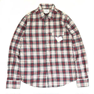 Dead Stock / L/S Check Shirt / Natural × Red × Blue