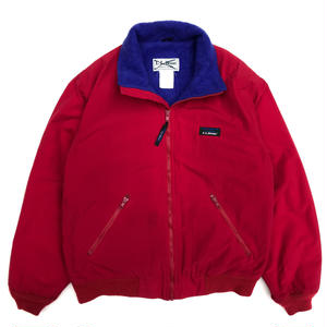 Made in USA / 90s L.L.Bean / Warm-Up Jacket / Red / Used