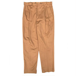LANDS' END / Cotton 2Tuck Slacks  / Camel / Used