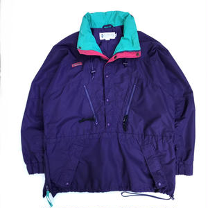 OLD Columbia / Pullover Nylon Jacket / Purple × Pink × Turquoise
