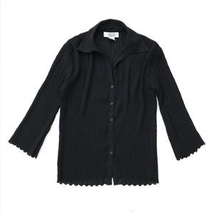 For Ladies / Used Open Collar Shirt / Black