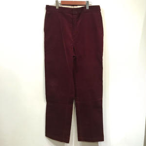 Made in USA / 90s Dead Stock Dickies Corduroy WorkPants / Burgundy