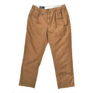 Polo Ralph Lauren / Cotton 2Tuck Slacks  / Camel / Used