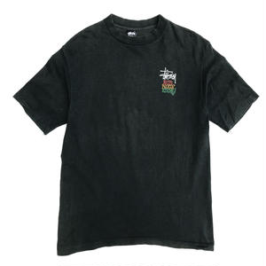 Made in USA / 80s Stussy /  Vintage Tee / Dark Green / Used
