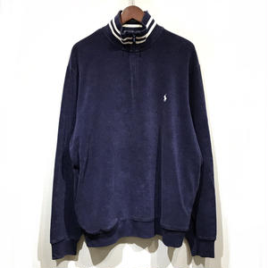 Used Polo Ralph Lauren / Half Zip Cotton Pile Sweater / Purple