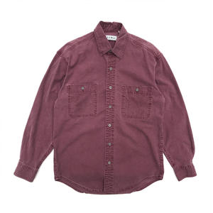 L.L.Bean / L/S Cotton Shirt /  Lt Pueple / Used