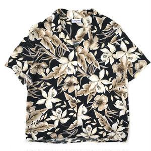 Made in USA / Used Hawaiian Shirt / Black