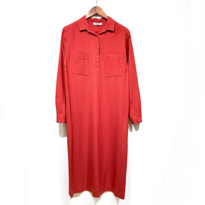 70s Pullover Onepiece / Red