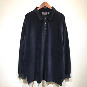 Used  L/S Corduroy Polo Shirts / Navy
