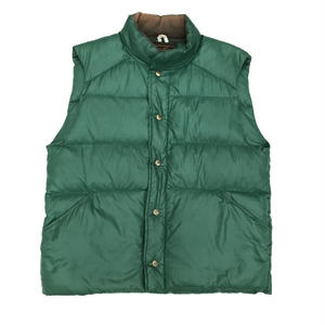 Made in USA / 80s Eddie Bauer / Rip Stop Nylon Down Vest / Green / Used