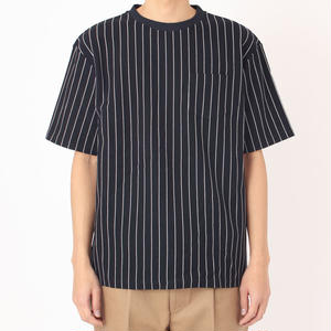 SON OF THE CHEESE / STRIPE TEE / BLACK