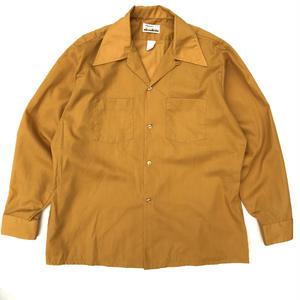 OLD Arrow / L/S Open Collar Shirt / mastard / Used