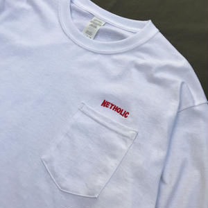 "Color at Against ORIGINALS / ""NETHOLIC"" Long Sleeve Pocket TEE / White"