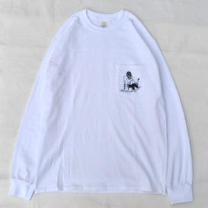 CaA ORIGINALS / カラアゲおじさん L/S T-SHIRT / WHITE