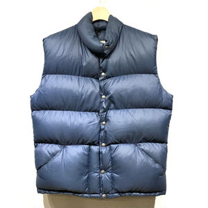70's Vintage North Face / RIP STOP Down Vest / Navy