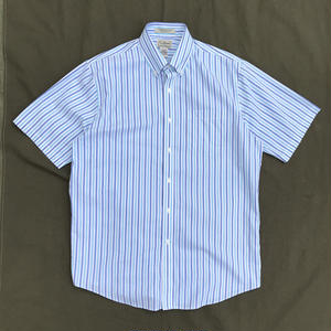 L.L.Bean / S/S Striped Shirt / White × Blue × Navy